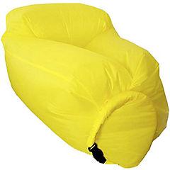 Sillón inflable amarillo