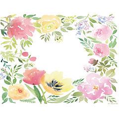 Set de 50 individuales flores colores 43x33 cm