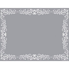 Set de 50 individuales flor blanca 43x33 cm