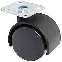 Rueda metálica 40 mm con placa cromada