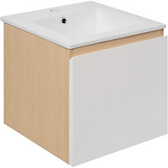 Mueble new york 41x41x41 cm light oak/white con lavamanos