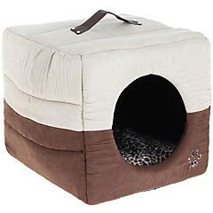Cama tipo cueva para mascotas