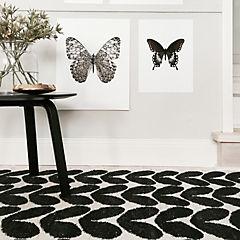 Alfombra karin black 150x200 cms