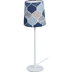 Lámpara de Mesa Rombos Azules E-27 60 W