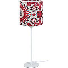 Lámpara de Mesa Mandalas Rojo/Gris E-27 60 W