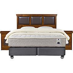 Box spring king + muebles Torino + 2 almohadas + plumón