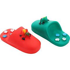 Pack juguetes mordedores con sonidos, verde - roja