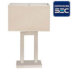 Lámpara de mesa cromo E27 40W