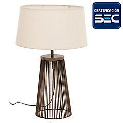 Lámpara de mesa jaula bronce viejo E27 40W