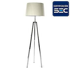 Lámpara de pie treo cromo 2 luces E27 40W