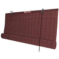 Cortina enrollable bambú caoba 60x220