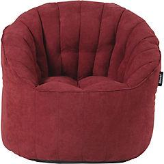 Sofá pouf 80x88x73 cm rojo