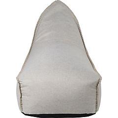 Sofá lounge 70x135x90 cm y pouf 52x40x33 cm beige