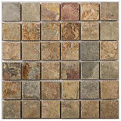 Malla mosaico 30.5x30.5 cm marrón claro