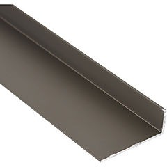 Ángulo Aluminio 32x12x1 mm Titanio  6 m