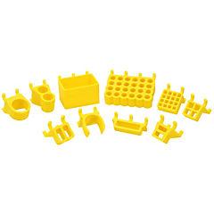Set organizadores de herramientas 3D amarillo