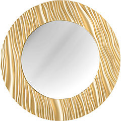 Espejo redondo 50 cm dorado