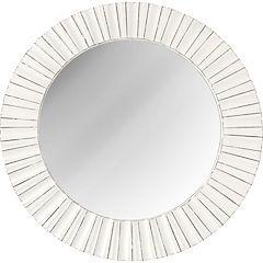 Espejo redondo 50 cm blanco