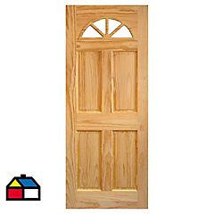 Puerta acceso pino Ibiza 80x200 cm