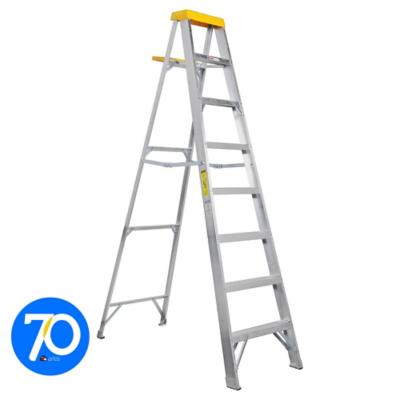 Alto m escala tijera aluminio 7 pelda os for Escalera madera sodimac