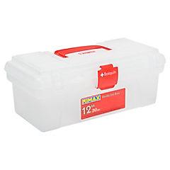 Caja para útiles de enfermería o botiquín 12x30x16.5 cm transparente