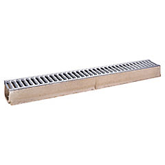 Kit canal con rejilla hormigón y acero 100x8,5 cm