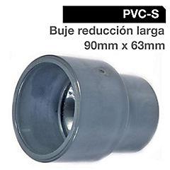 Buje reducción larga PVC 90x63 mm, presión cementar