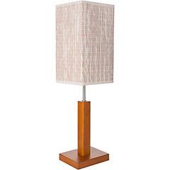 Lámpara Sobremesa Cuadrada 1 luz Beige