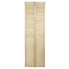Puerta closet pino celosías 60x200 cm