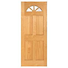 Puerta acceso pino Ibiza 75x200 cm