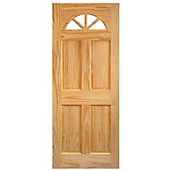 Puerta acceso pino Ibiza 70x200 cm
