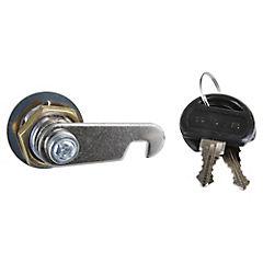 Cerradura para mueble metálico con 2 llaves