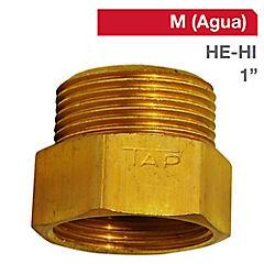 Niple Tuerca bronce 1 HE x 1 HI BSP