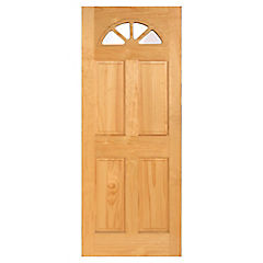 Puerta acceso pino radiata ibiza 210 cm