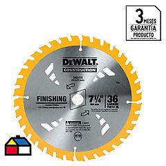 Disco sierra circular 36 dientes 7 1/4''