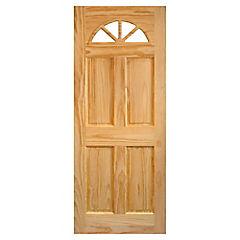 Puerta acceso pino Ibiza 85x200 cm