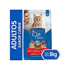 Cat chow adultos delicias sabor carne con defense 8 kg