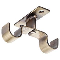 Soporte doble techo metal bronce 16mm, 2 unidades