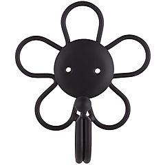 Toma cordón metal Flor negro