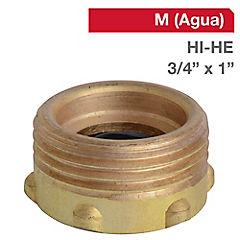 Reducción llave bronce 3/4 HI x 1 HE BSP