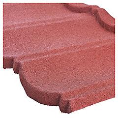 1745 x 405 mm Teja acero gravillada Inppatex  Rojo