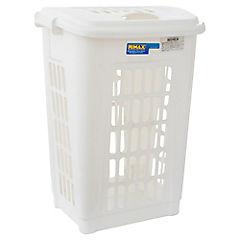 Cesto para la ropa blanco 60 litros