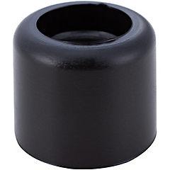 Tope puerta básico 25mm negro 1 unidad