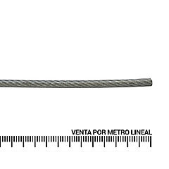 Cable de acero forro PVC 3/32