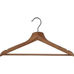 Set 8 colgadores p/ropa madera natural