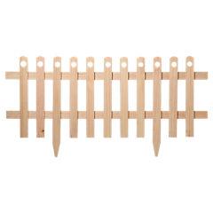 Cerco de madera con estaca natural 100 x 40 cm