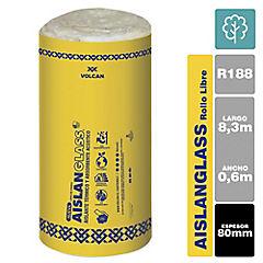 Lana de vidrio R188 libre 80mm 0,6x8,33m 1 rollo