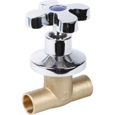 Llave paso campana cromada terminales so 1 2 for Llaves para lavamanos sodimac