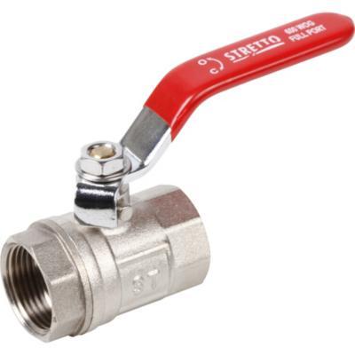 Llave de bola paso acero zincado for Llaves para lavamanos sodimac