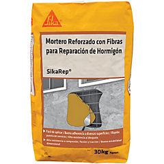 Saco 30 kg Sika Rep, mortero reforzado con fibras para reparación de hormigón